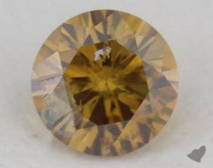 round0.25 Carat fancy deep brownish orangy yellow