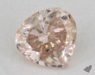 heart0.22 Carat fancy light brown