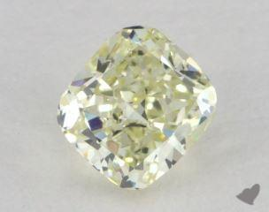 cushion0.62 Carat light yellowVS2