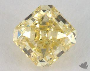 radiant0.65 Carat fancy yellowSI1
