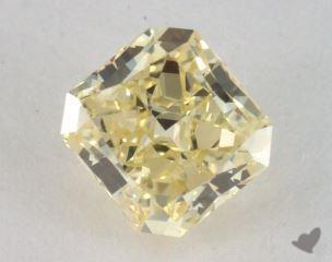 radiant0.72 Carat fancy light yellowVS1