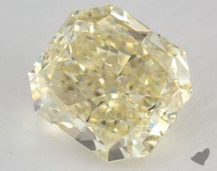 radiant2.43 Carat fancy yellowSI1