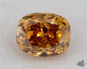 cushion0.21 Carat fancy deep brownish yellowish orangeVS2