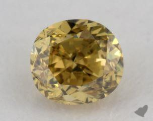 oval0.26 Carat fancy deep brownish greenish yellowSI1