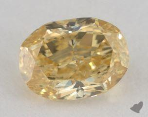 oval0.67 Carat fancy intense yellowSI1
