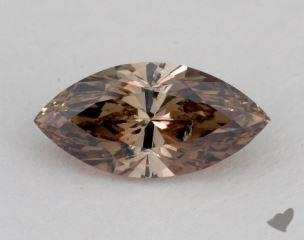 marquise1.07 Carat fancy dark orangy brownSI2