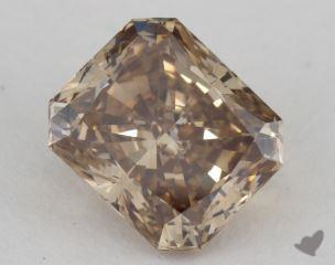 radiant2.19 Carat fancy dark yellow brownVS1