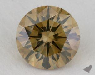 round1.10 Carat fancy yellowSI2