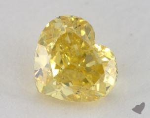 heart1.06 Carat fancy vivid yellowSI2
