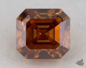 square emerald0.38 Carat fancy deep orangeSI1