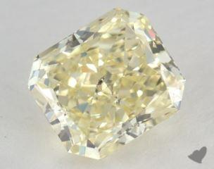 radiant2.33 Carat fancy light yellowSI2
