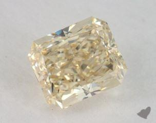 radiant1.09 Carat fancy light brownish yellowVS1