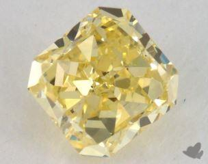 radiant0.64 Carat fancy intense yellowI1