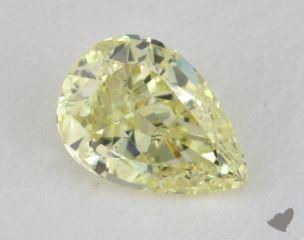 pear0.53 Carat fancy light yellowVS2