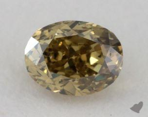 oval0.25 Carat fancy deep grayish greenish yellowSI1