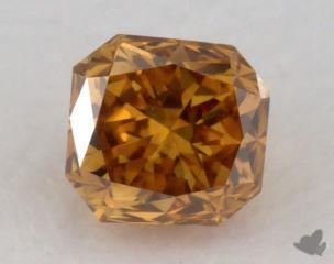 radiant0.35 Carat fancy deep yellowish orangeVS2