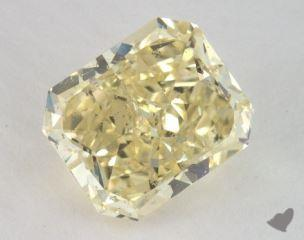 radiant3.40 Carat fancy yellowSI2