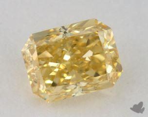 radiant0.70 Carat fancy deep yellowVS2