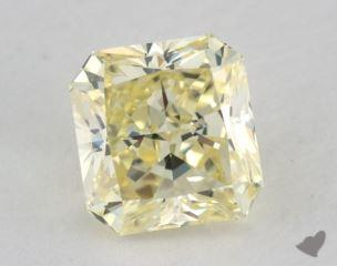 radiant1.50 Carat fancy light yellowVVS1