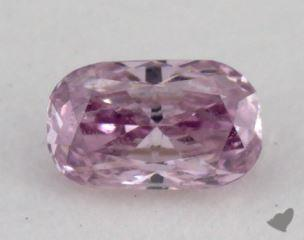 cushion0.14 Carat fancy intense purpleI1
