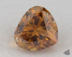 heart0.34 Carat fancy deep yellowish orangeSI1