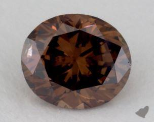 oval1.01 Carat fancy dark orangy brownSI2