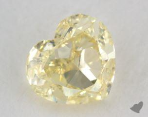 heart1.01 Carat fancy light yellowVS1