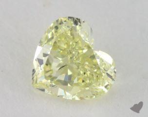heart0.59 Carat fancy light yellowSI1