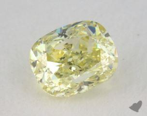cushion0.57 Carat fancy yellowSI1
