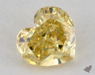 heart0.71 Carat fancy intense yellowVS2