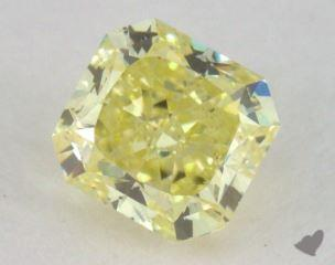 radiant0.52 Carat fancy intense yellowSI2