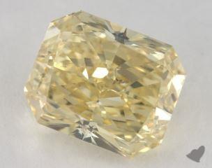 radiant5.44 Carat fancy yellowSI2