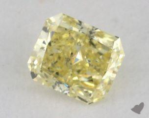 radiant0.19 Carat fancy yellowSI2