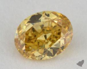 oval0.25 Carat fancy vivid orangy yellowVS2