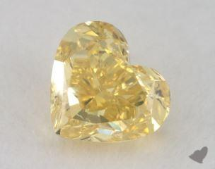heart0.85 Carat fancy intense yellowSI1