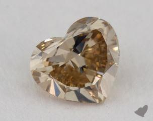 heart1.10 Carat fancy yellowish brownVS2