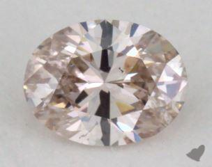 oval0.28 Carat fancy light brownI1