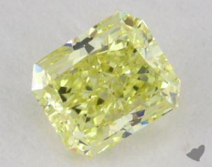 radiant0.59 Carat fancy yellowVS1