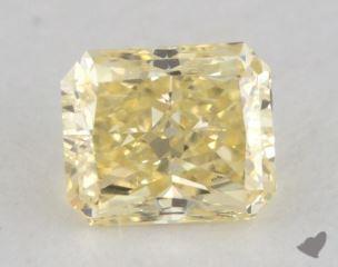 radiant0.72 Carat fancy yellowVS1