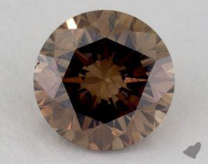 round1.39 Carat fancy dark orangy brownVS1