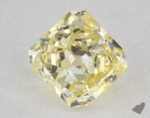 radiant0.39 Carat fancy intense yellowVS2