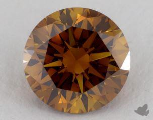 round1.51 Carat fancy deep orangeVS2