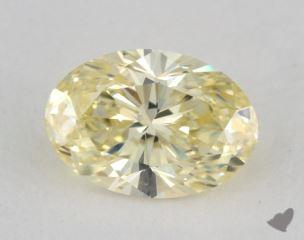 oval1.22 Carat fancy light yellowVS1