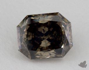 radiant3.25 Carat fancy dark greenish yellow brownI1