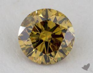 round0.70 Carat fancy deep brownish greenish yellowI1