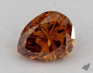 pear1.29 Carat fancy deep yellowish orangeI2