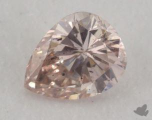 pear0.16 Carat fancy brownish orangy pinkSI2