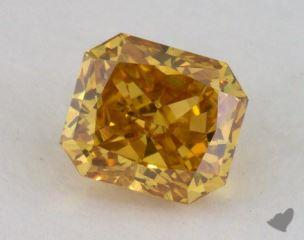 radiant0.36 Carat fancy deep brownish yellowI1