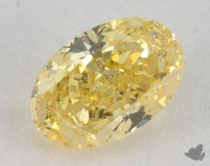 oval0.72 Carat fancy intense yellowSI2