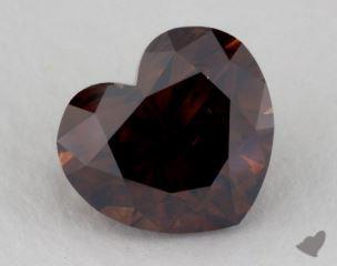 heart2.01 Carat fancy dark orangy brownSI1